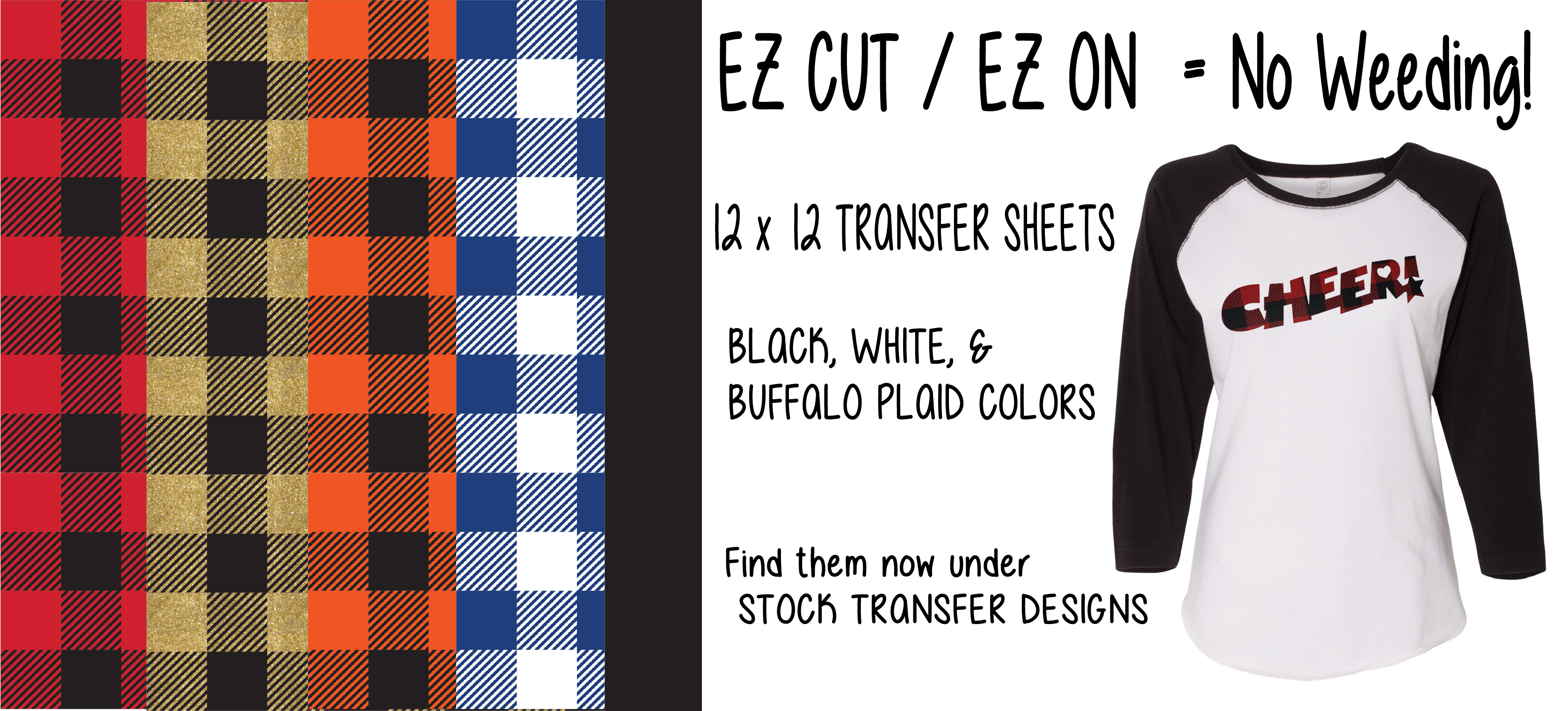 EZ Cut / EZ On transfer sheet examples